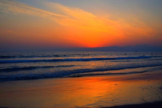 日没後の湘南・鵠沼海岸 #湘南 #藤沢 #海 #波 #wave #surfing #mysky