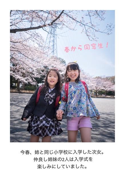 写真: 春から同窓生