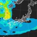 写真: 富士山撮影時はPM2.5の隙間だった