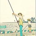 写真: 一家釣り