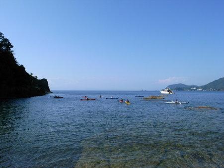 萩谷海岸の海
