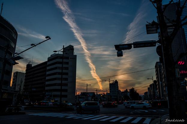 Gojo-dori Street At Dusk - Kyoto City