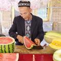写真: 西瓜売りの老人