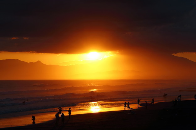 鵠沼の夕日
