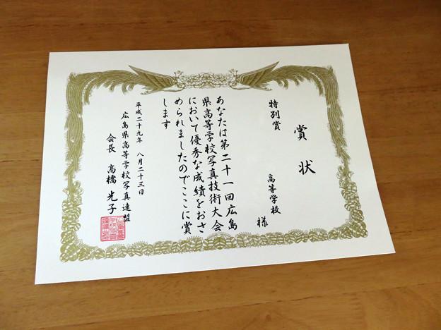長女が初めて写真大会で入賞!