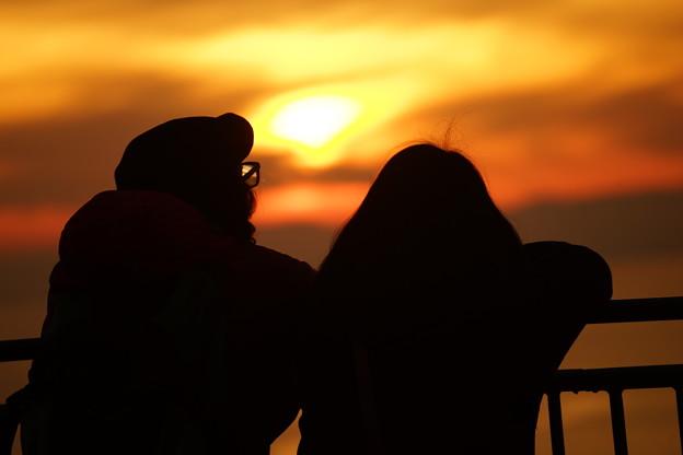 夕日の二人