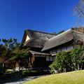 写真: 冬の鶴翔閣