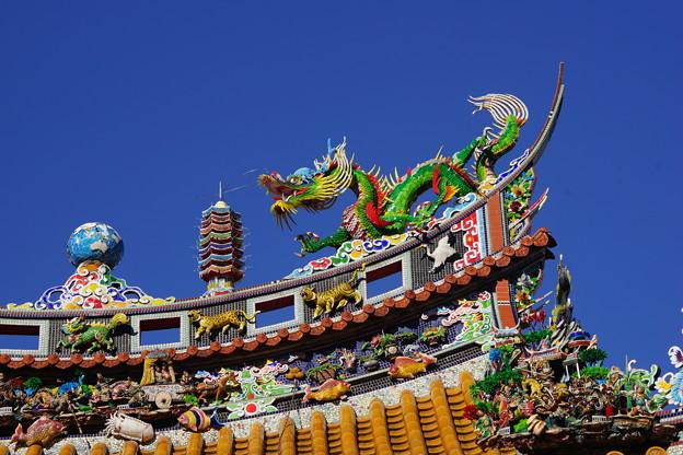 写真: 関帝廟の屋根