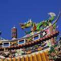 関帝廟の屋根