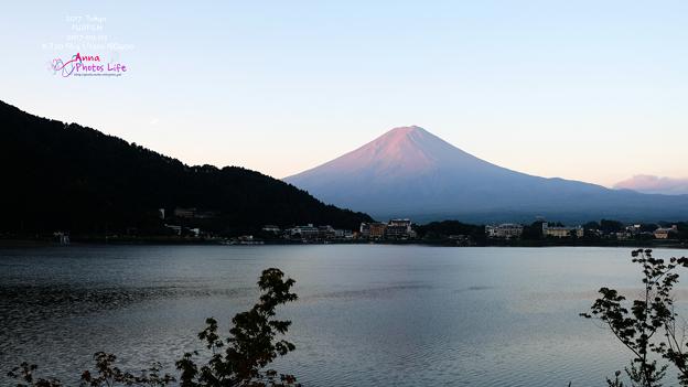 富士山雨雲彩