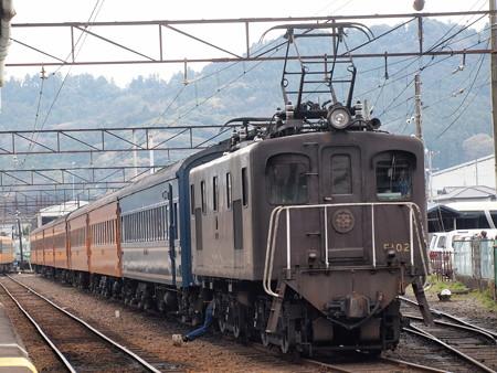 ED500形EL急行 新金谷駅