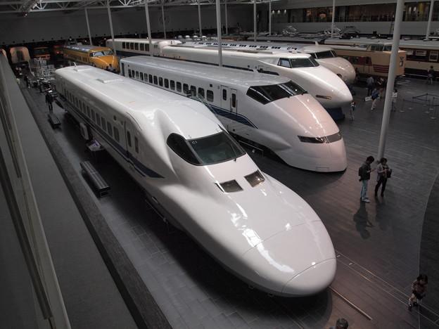 新幹線の並び リニア鉄道館