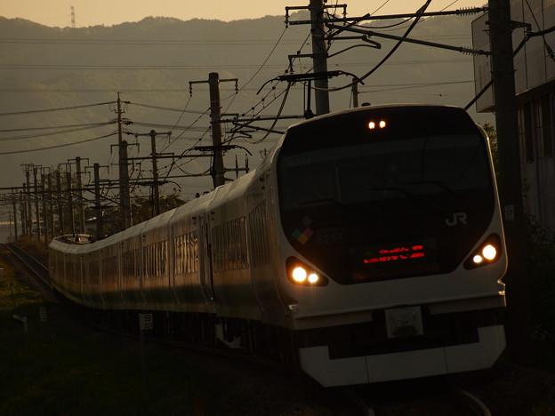 写真: E257系特急あずさ 中央本線下諏訪~岡谷08