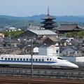 写真: 700系こだま 東海道新幹線京都~新大阪