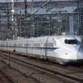 写真: N700系のぞみ 東海道新幹線米原駅