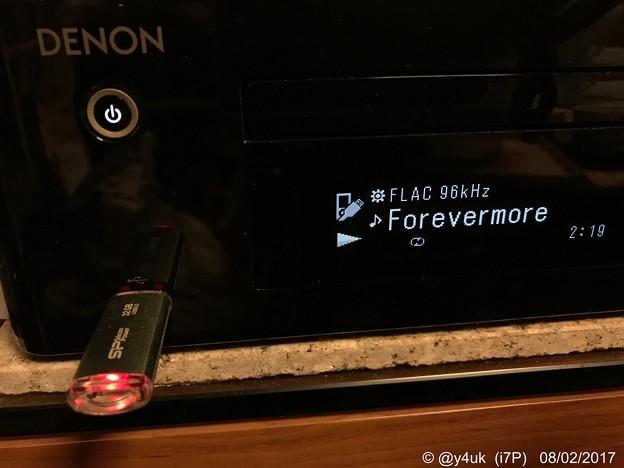 """写真: FLAC 96kHz""""Forevermore"""" ~DENON←USBメモリーHi-Res~""""ごめん、愛してる""""訳あり身に純愛ドラマは泣く主題歌"""