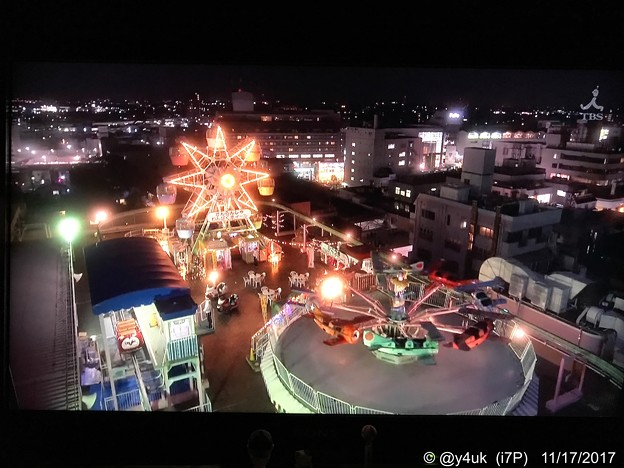 Photos: Xmas Roof at night<fly over> 想い出の場所~[監獄のお姫さま]感動(川越まるひろ百貨店屋上遊園地)夜間閉店後のロケ~最高の夜景