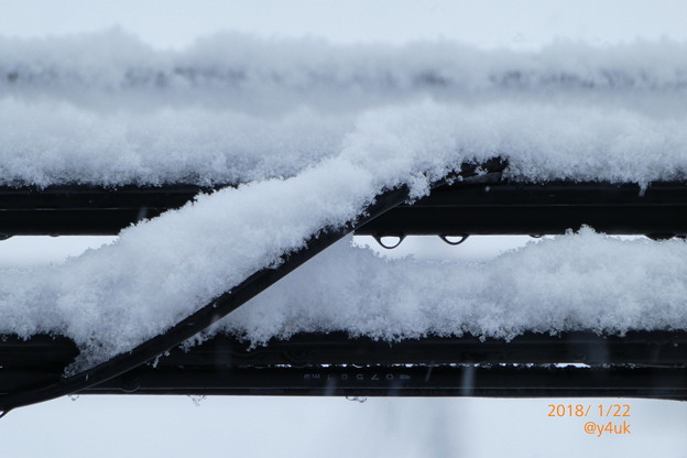 細い電線にまで降りつもる大雪 ~snow cable