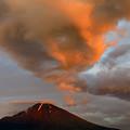 写真: 焼雲の朝