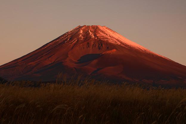 写真: 初紅富士