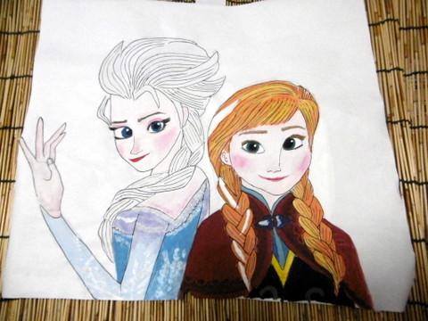 手描き『アナと雪の女王』