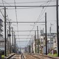 写真: 嵐電軌道一景