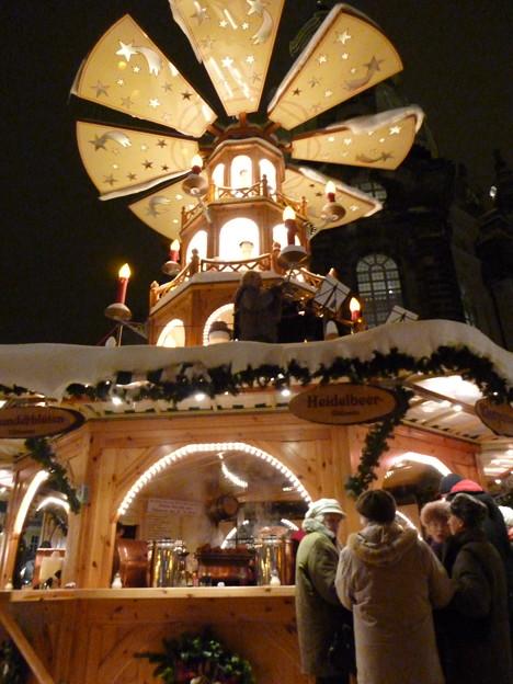 ドレスデンのクリスマス市にて