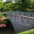 佐野城址のアーチ橋