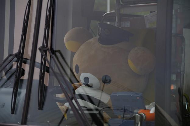 リラックマちゃんバス運転中
