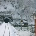 写真: 雪国ローカル線06