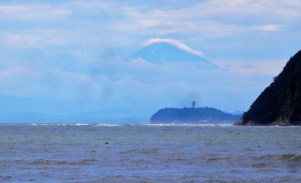逗子海岸からの夏富士