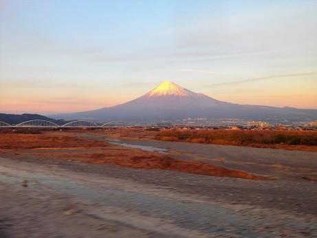 写真: 車窓富士山 2018-01-16 TUS