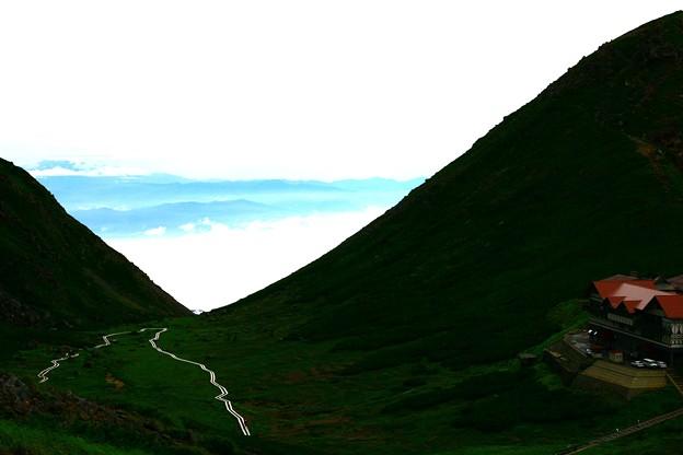 乗鞍 富士見岳山頂から  雲海