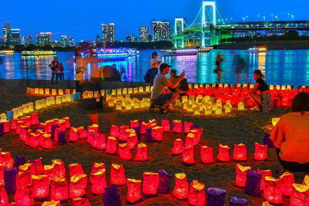 海の灯り祭り(HDR)