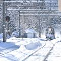 写真: 正月の無人駅