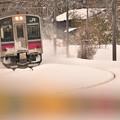 雪の踏切3