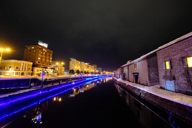 写真: 小樽運河 冬のイルミネーション1