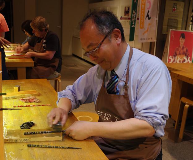 箸研ぎ体験