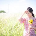 草原に佇む