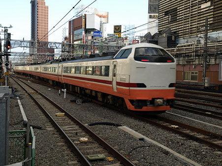 485系東武線直通電車(新宿駅)