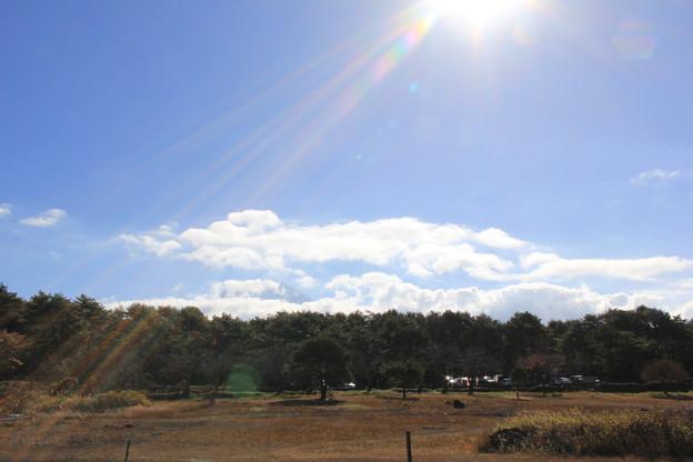 富士山は雲の影に
