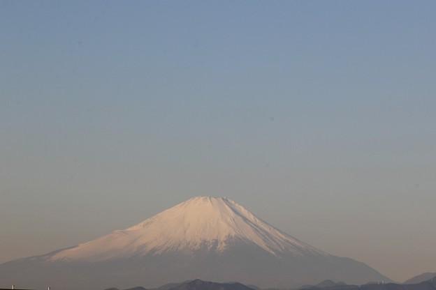 2018年1月13日朝8時6分の富士山