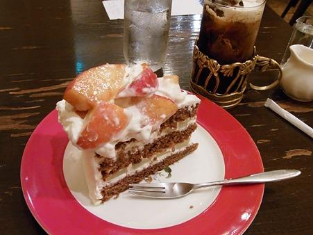 桃のショートケーキ♪