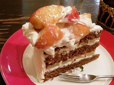 桃のショートケーキ♪アップ♪