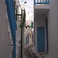 写真: ミコノスの路地