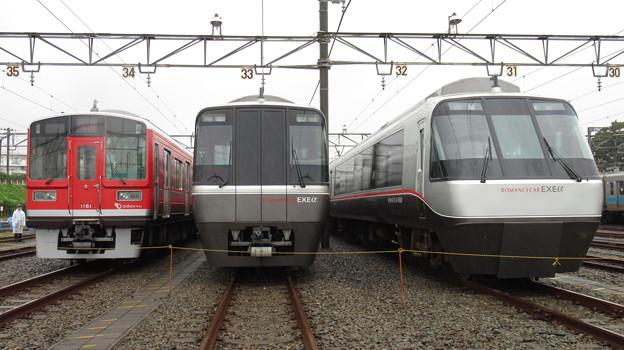 小田急1061F・30051F・30251F 3並び