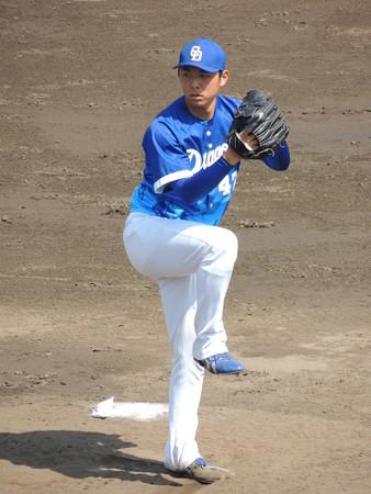 笠原祥太郎投手。