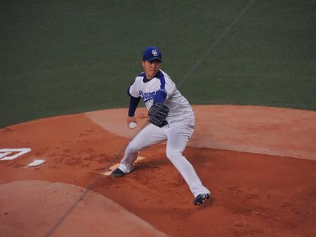 柳裕也投手。