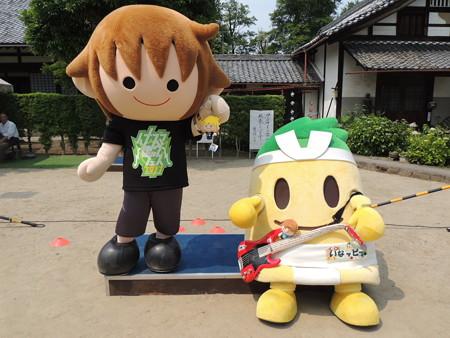 6/10(土) 稲沢あじさいまつりでタボくん&いなッピーのステージとか撮影会とか。