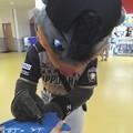 写真: B☆B サインを書きます。